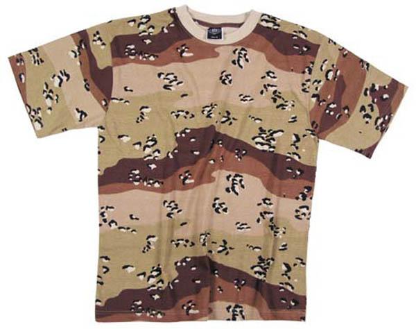 US T-Shirt, halbarm, 6 Farben desert