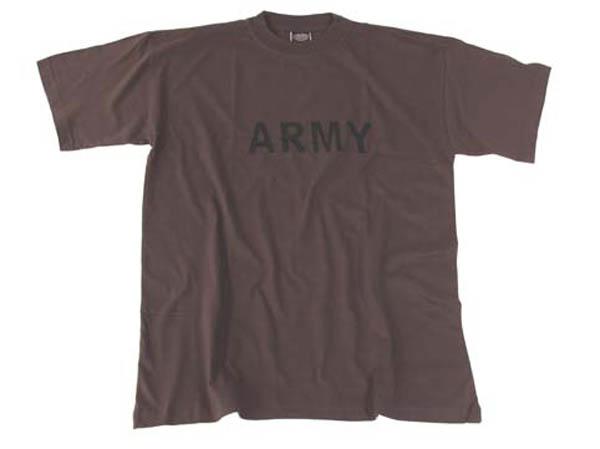 T-Shirt, bedruckt, -Army-, oliv