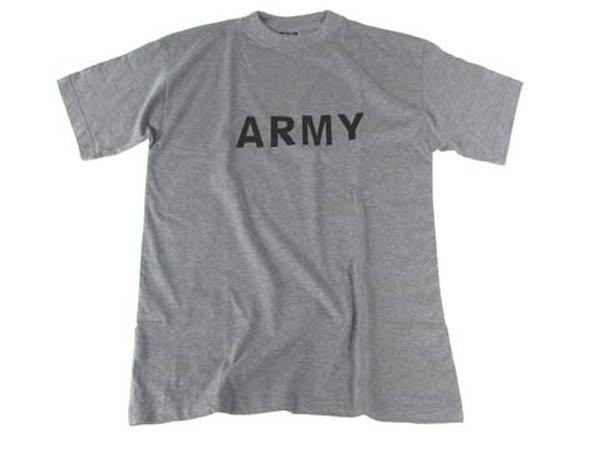 T-Shirt, bedruckt, -Army-, grau