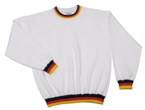 Sweatshirt, -Deutschland-, weiß