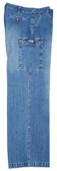 BW Feldhose, Jeans, blau-stonewashed
