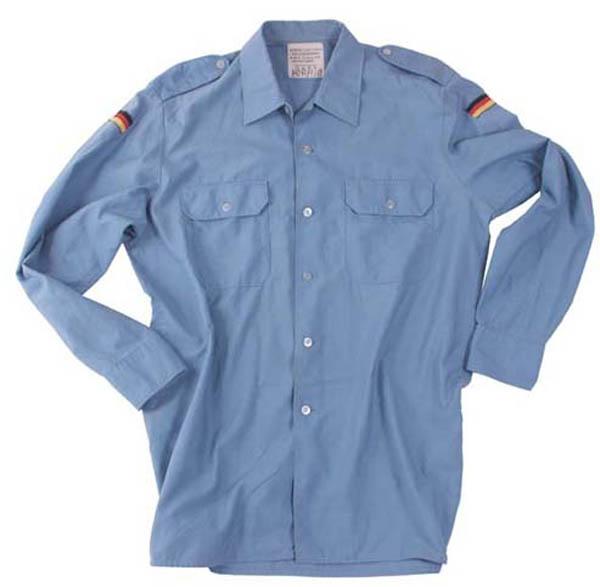 BW Marinehemd, mittelblau, rep.