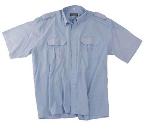 BW Ausgehhemd, blau, Langarm, gebr.