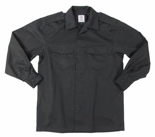 US Hemd, langarm, oliv