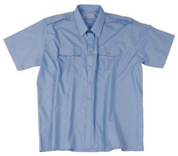 Diensthemd,orig. Bw hellblau kurzarm neu