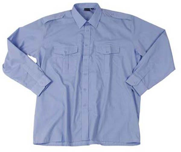 Diensthemd,orig. Bw hellblau langarm neu