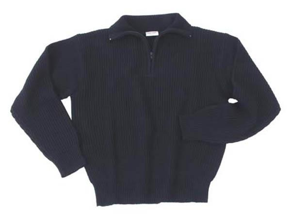 Isländer Pullover Orig., Troyer, schwarz, mit