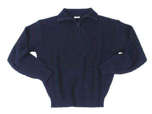 Isländer Pullover Troyer Orig., blau mit