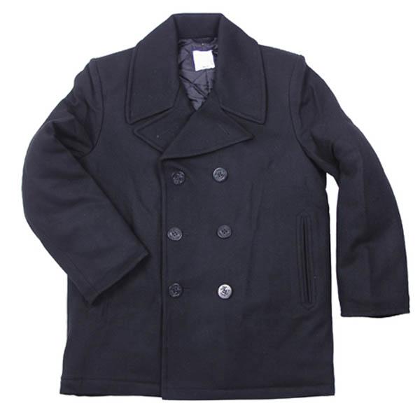 US Pea Coat, schwarz