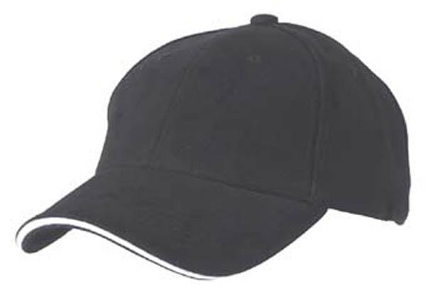 BB Cap, -Sandwich-, schwarz/weiß