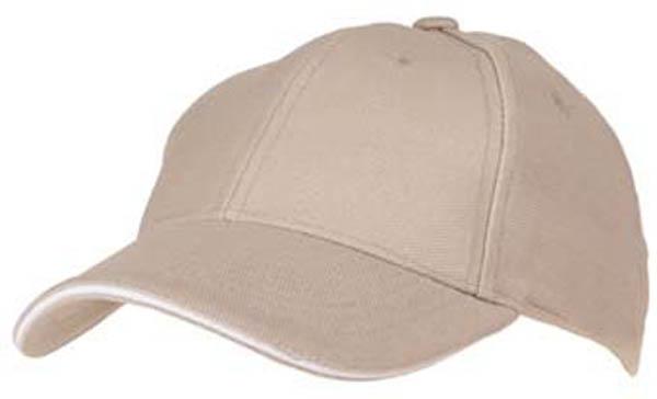 BB Cap, -Sandwich-, khaki/weiß