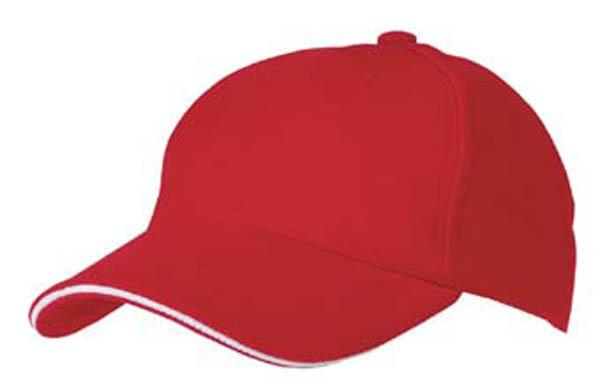 BB Cap, -Sandwich-, rot/weiß