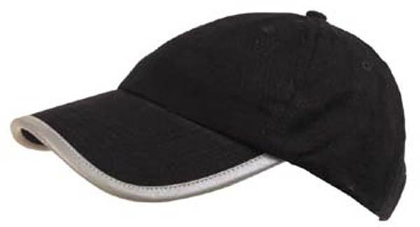 BB Cap, schwarz, mit reflekt. Rand