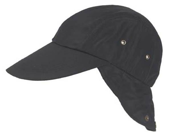 BB Cap mit Nackenschutz, schwarz