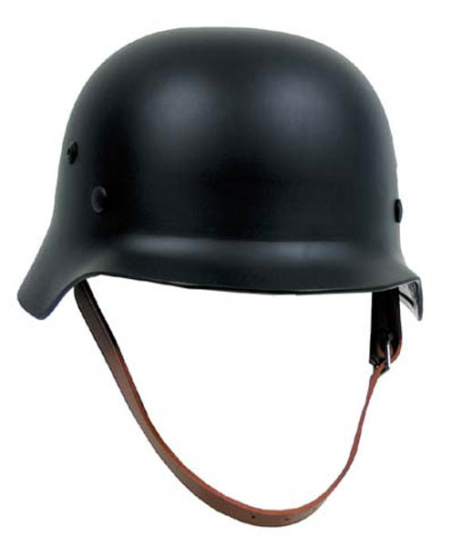 Stahlhelm WW II Leder Innenteil BW Wehrmacht Stahl Helm Army schwarz oliv chrom
