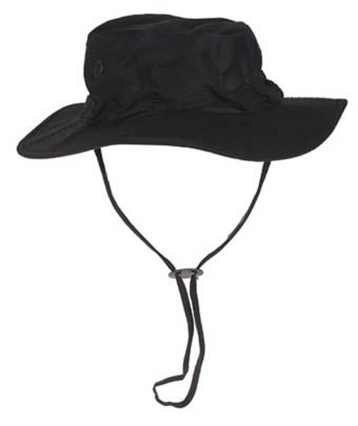 US GI Buschhut, mit Kinnband, schwarz