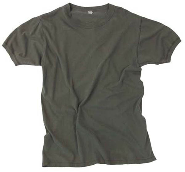 BW Unterhemd, oliv, gebr., rep.