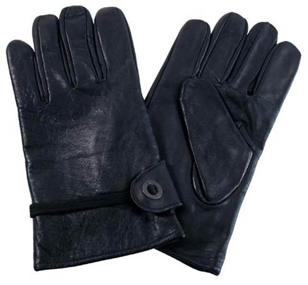 Western-Fingerhandschuh, schwarz, Leder