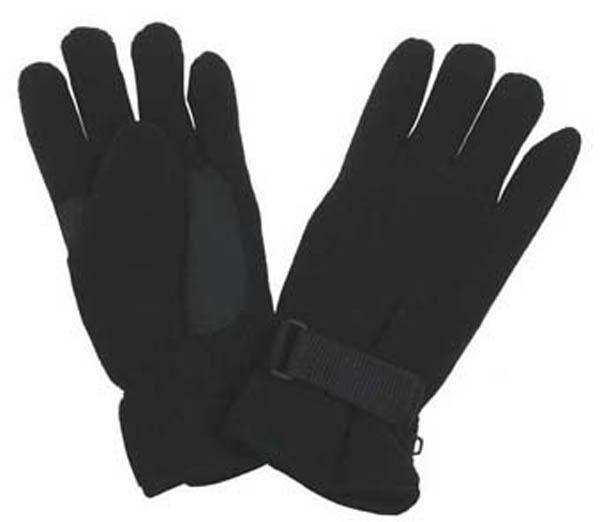 Fleece-Fingerhandschuhe, schwarz