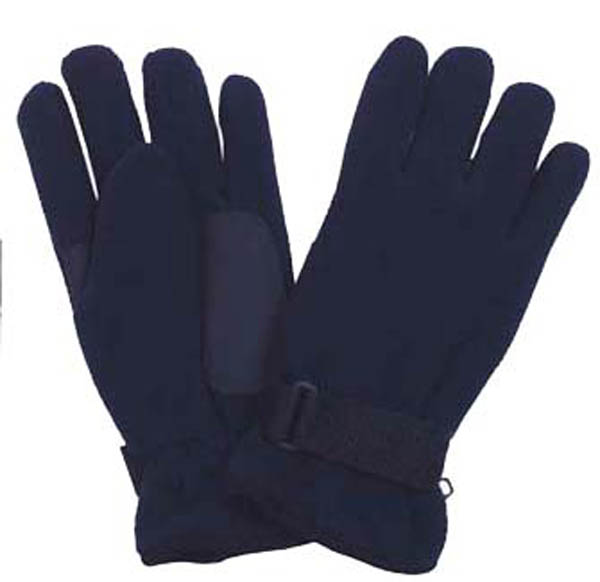 Fleece-Fingerhandschuhe, blau