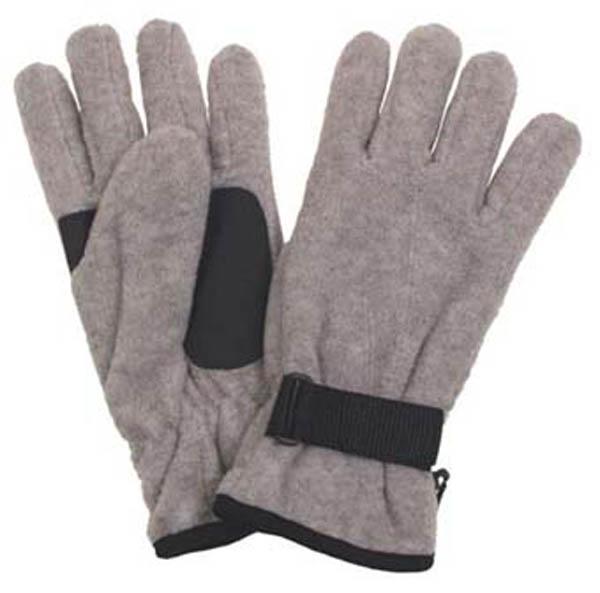 Fleece-Fingerhandschuhe, grau
