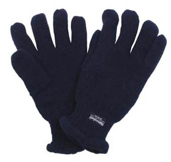 Strick-Fingerhandschuhe, blau