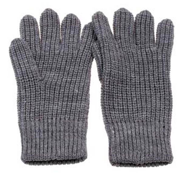 Strick-Fingerhandschuhe, grau
