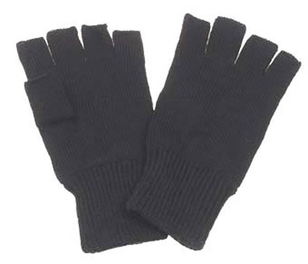 Strick-Handschuhe, schwarz