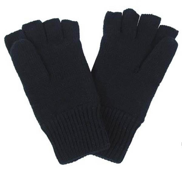 Strick-Handschuhe, Thinsulate, schwarz