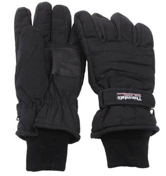 Fingerhandschuhe, Thinsulate, schwarz