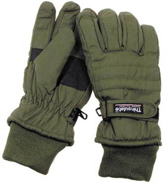 Fingerhandschuhe, Thinsulate, oliv