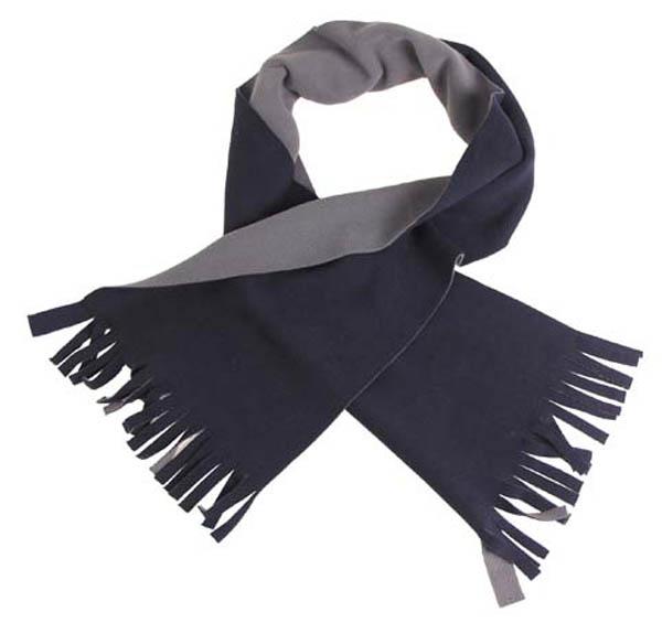 Fleece-Schal, blau/grau, 150x24 cm