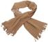 Fleece-Schal, braun/sand, 150x24 cm