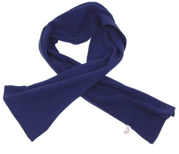 Fleece-Schal, blau, 160x25 cm