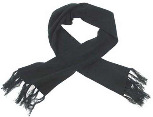 Strickschal, schwarz, 150x24 cm, fein