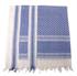 PLO Tuch mit Fransen, blau-weiß