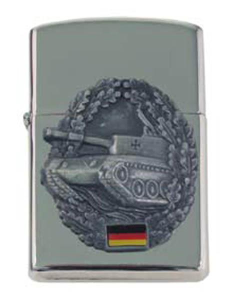Sturmfeuerzeug, -Panzer-, silber
