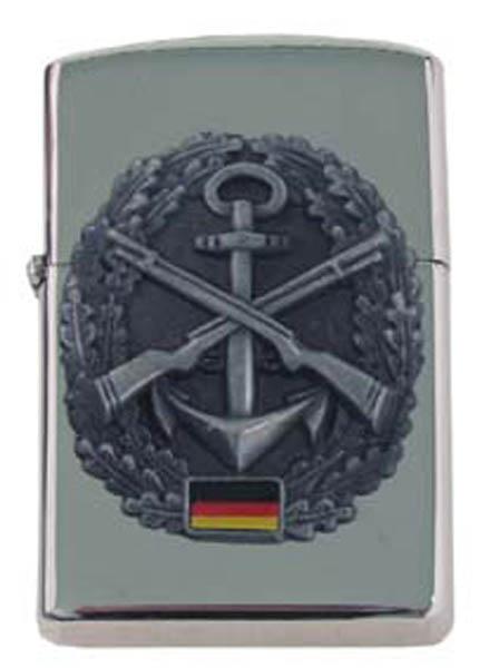 Sturmfeuerzeug, -Marinesicherung- silber