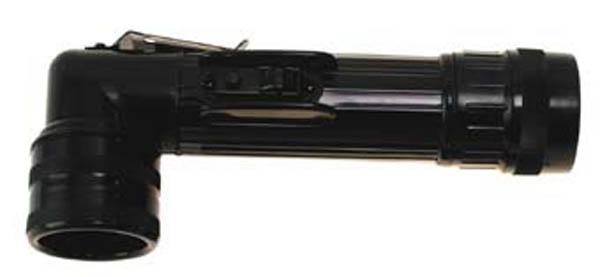 US Winkeltaschenlampe, groß, schwarz