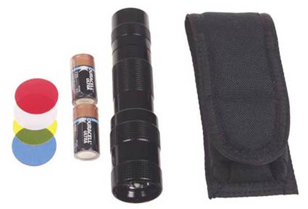 Xenon Stablampe -Tactical-2-Zell schwarz