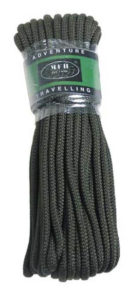 Seil, oliv, 5 mm, 15 Meter (50')