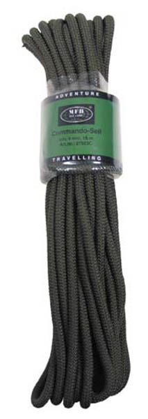 Seil oliv, 9 mm, 15 M (50)