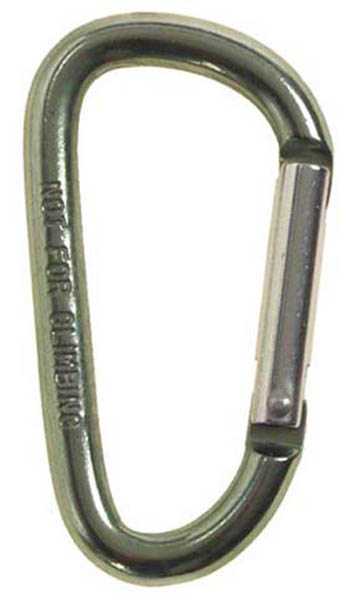 Karabinerhaken, oliv, D 6mm x 6 cm