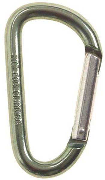 Karabinerhaken, oliv, D 8mm x 8 cm