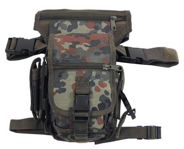 Hip Bag, SECURITY flecktarn, Bein- und Gürtelbefestigung