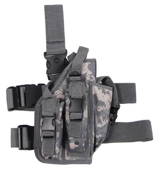 Pistolenbeinholster, AT tarn, Bein- und Gürtelbefestigung