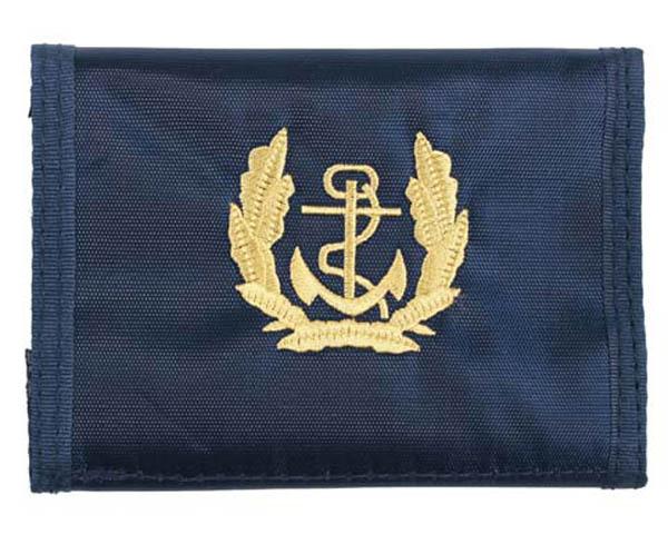 Nylongeldbörse, blau, Marine
