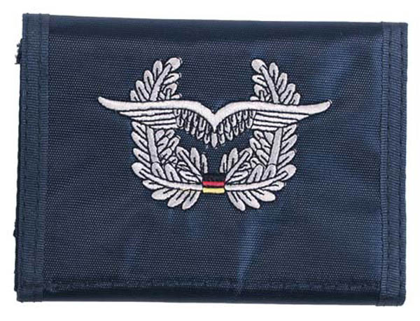 Nylongeldbörse, blau, Luftwaffe