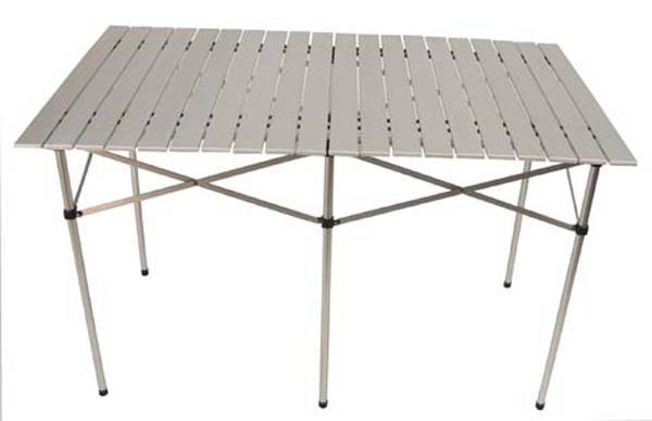 Camping-Tisch, klappbar, Alu poliert