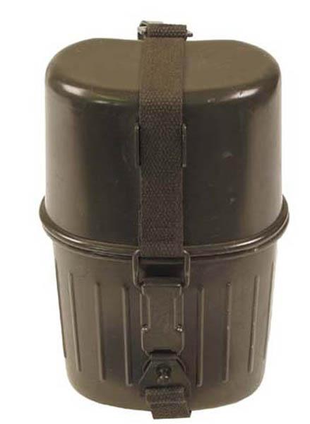 BW Feldflasche, mit Trinkbecher, gebr.